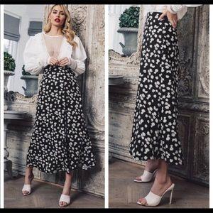 Cynthia Rowley Ruffled Floral Summer skirt
